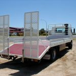 Hino beaver tail with Hydraulic Ramps