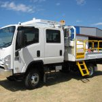 Isuzu NPS 300 4x4 Water Carrier with Slide out Step and Self Closing Gate