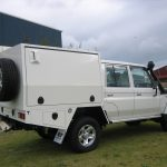 LC70 Dual Cab Canopy With Side Vent