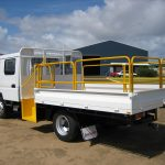 Mitsubishi Canter 815 with Walk up Step and Self Closing Gate